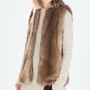 Size S - Zara - Trafaluc faux fur vest